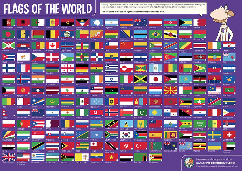 Flags of the World A2 Poster