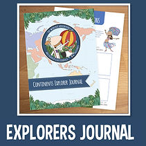 Kids Continents Explorer Journal