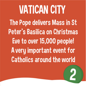 Vatican City Mass - Christmas around the world