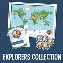 Kids World Map and Explorer Journal