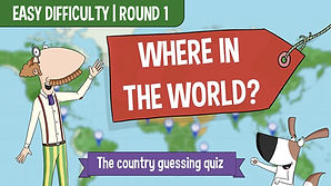 Where In The World Quiz for kids _ Easy difficulty