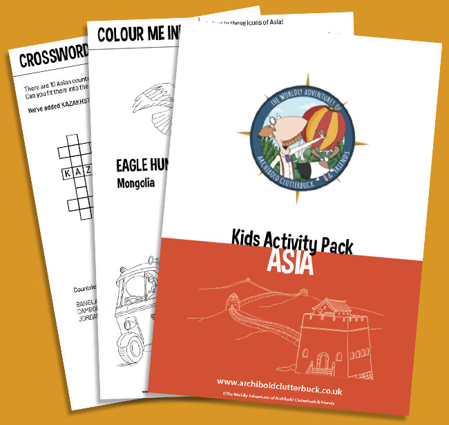 Free kids activity pack on Asia