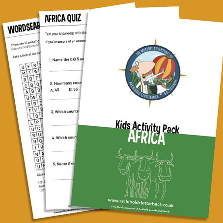 Your FREE Africa activity pack