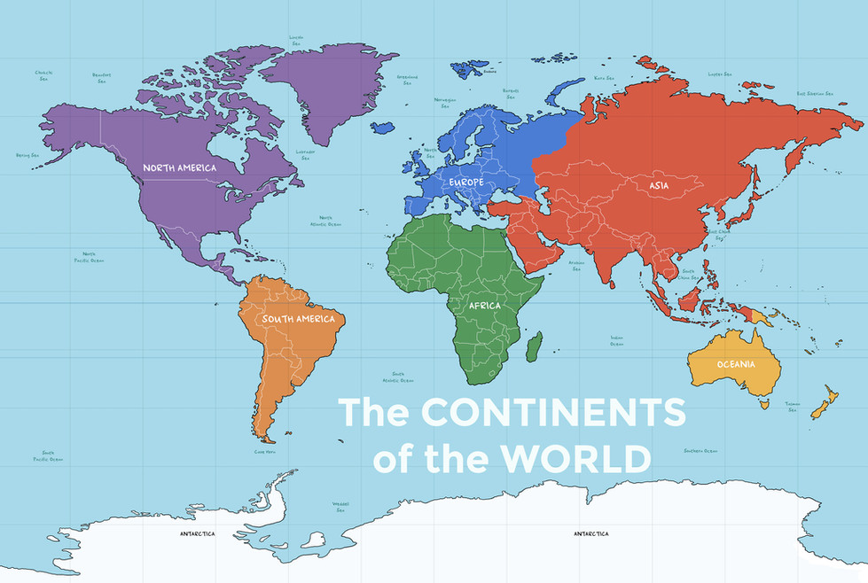 Learn about the continents of the world