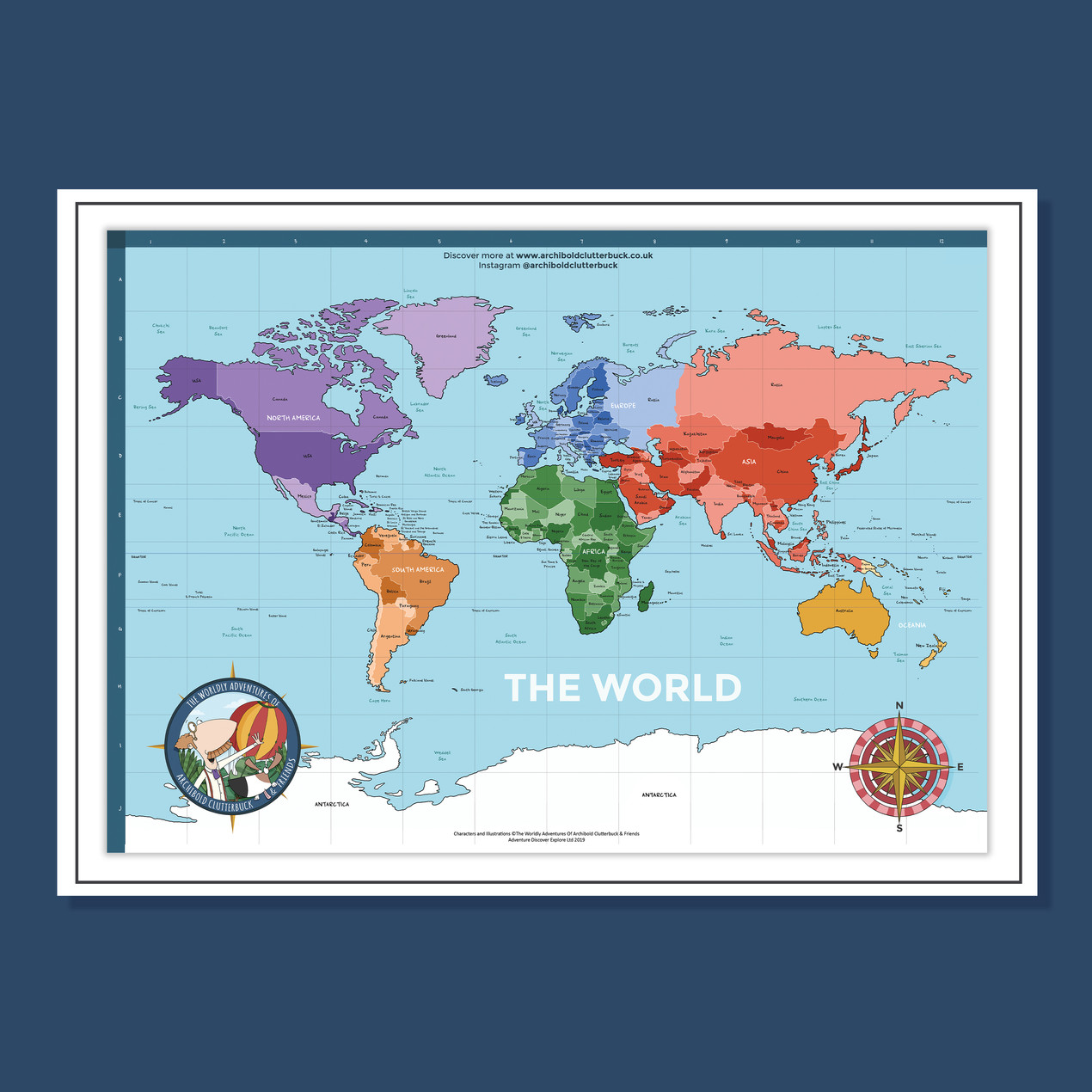 A2 Political World Map