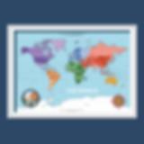 A2 Children's Political World Map