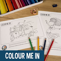 Kids activity - colour in sheets