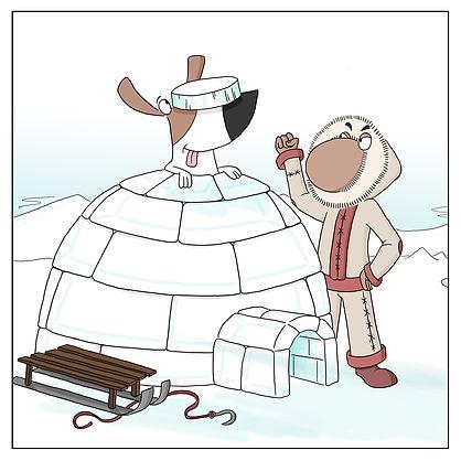 Inuit and an igloo
