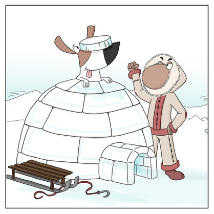Inuit and an igloo