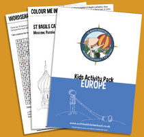 free kids activity pack on Europe