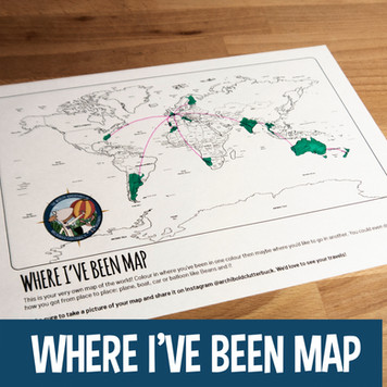 Activities for Kids - Where I've Been World Map
