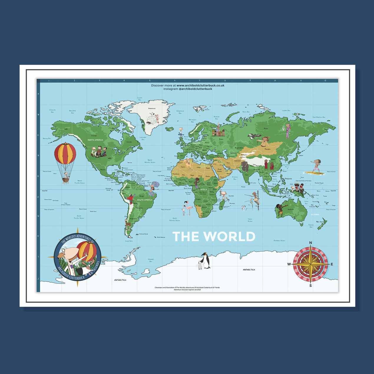 A1 Geographical World Map