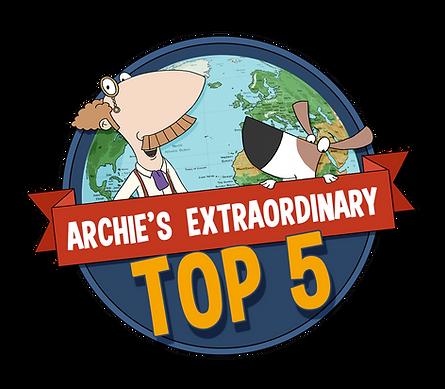 Archie's Extraordinary Top 5 Logo