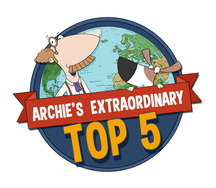 Archie's Extraordinary Top 5 Logo