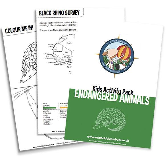Endangered Animals Activity Pack