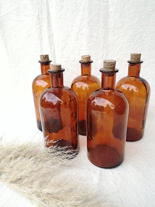Bouteilles à pharmacie ambrées