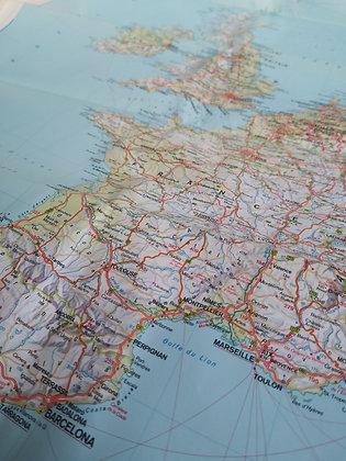 Carte routière - Europe