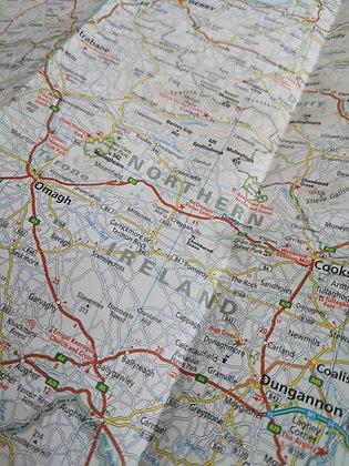 Carte géographique - Ireland