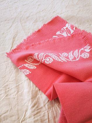 Serviettes de table rose