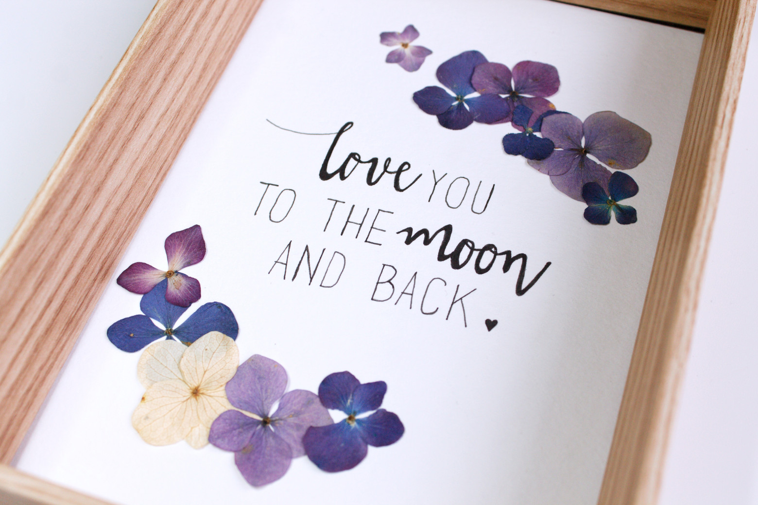 Herbier Love you to the moon and back - Atelier Sauvage