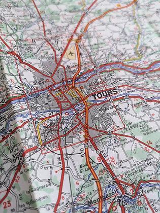 Carte routière Michelin - Angers / Orléans
