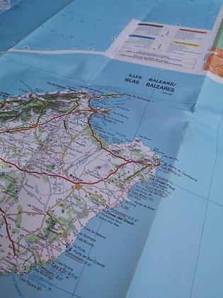 Carte routière - Espagne (Nord-est / Baléares)