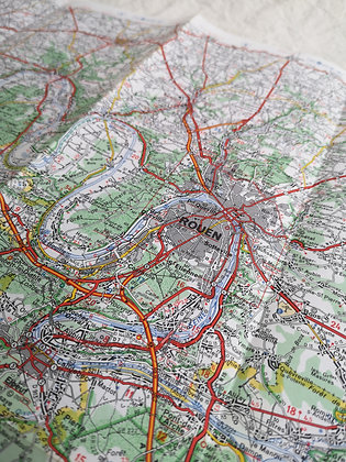 Carte routière Michelin - Caen / Paris
