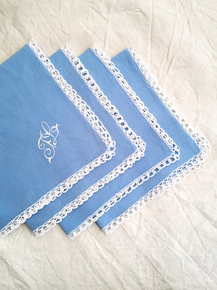 Serviettes de table bleues