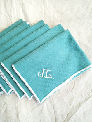 Serviettes de table vertes