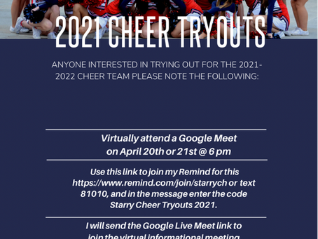 Try out for CHS Cheer!