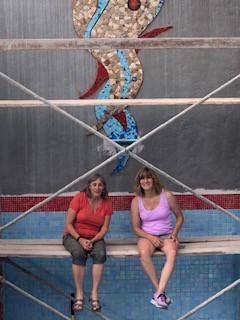 Loreto, Baja Mosaic Mural installation!