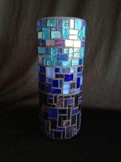 Blue Brick Vase