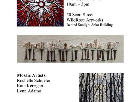 Attention Shoppers – Holiday Open Mosaic Studio at Wild Rose Artworks in  Old Ironworks Art District