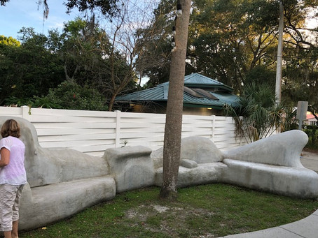 Heading to Florida to teach and work on 40' curved bench public art project!