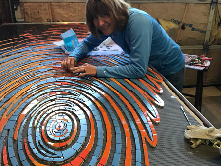Mosaic Mural - Eye of the Ripple is finished!