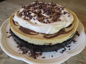 mocha fudge swirl cheesecake