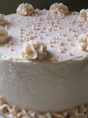 custom champagne buttercream birthday cake