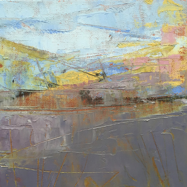 'Loch Ken Study IV' 20cm x 20cm