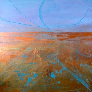 'Late Night Shimmer' 2.5ft x 2.5ft
