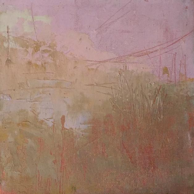 'Loch Ken Study III' 20cm x 20cm