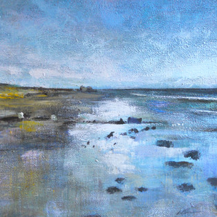 Low Tide at Alnmouth 25cm x 25cm