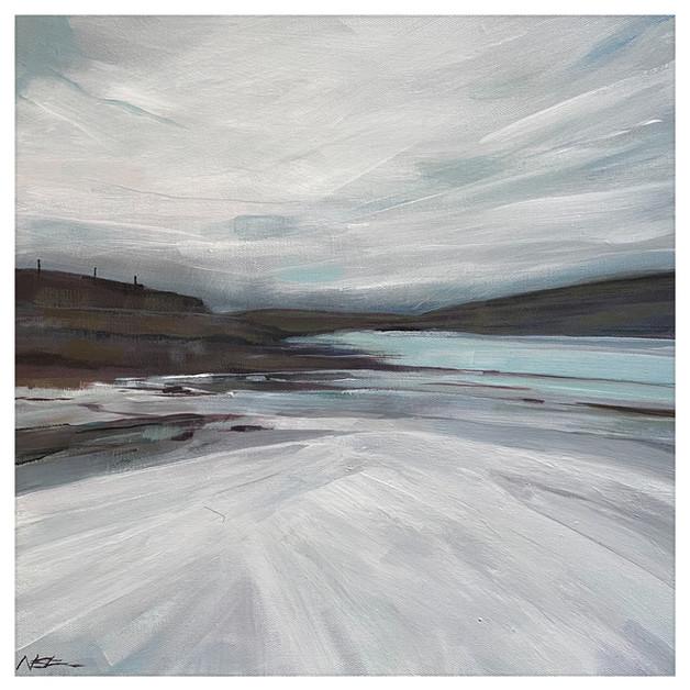'The White Beach' 40cm x 40cm