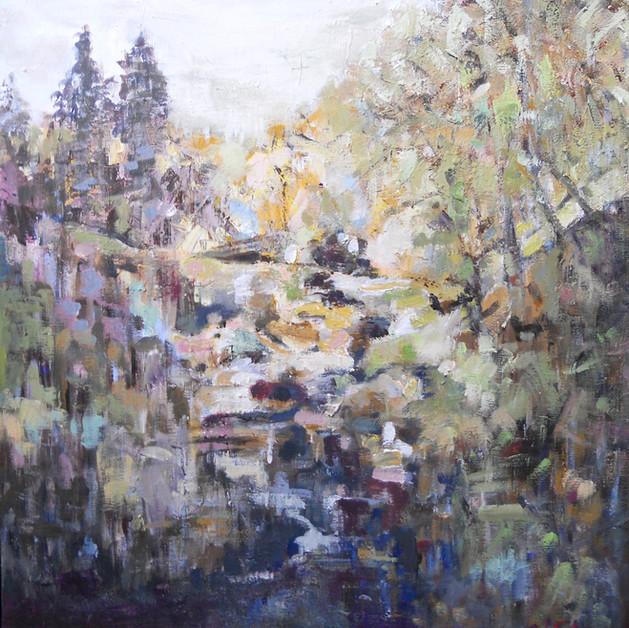 Through The Falls 50cm x 50 cm