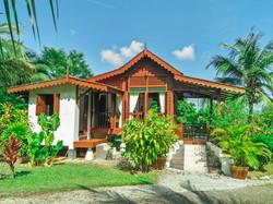 The exterior of our Garden Villa