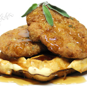 Sage Fried 'Chicken' and Waffles