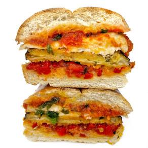 Eggplant Parmesan Sandwich (Vegan)