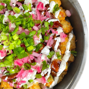 Vegan BBQ Chicken Totchos