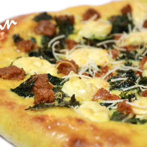 White Sausage and Kale Pizza