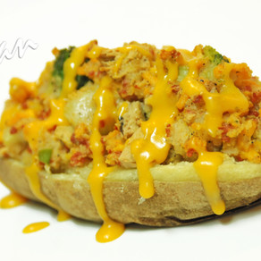 Chick-no, Broccoli and Cheese Potato