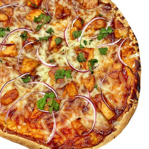 BBQ 'Chicken' Tortilla Pizza
